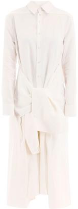 Jil Sander Knotted Detail Flared Hem Dress