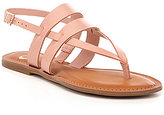 GB Date-Night Double Band Leather Thong Sandals