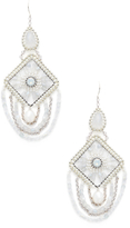 Miguel Ases Pearl Emblem Statement Earrings