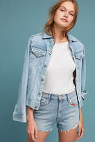 Mother Easy Does It High-Rise Denim Shorts