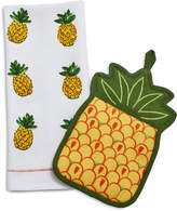 Sur La Table Pineapple Pot Holder and Towel Set