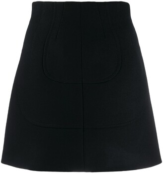 No.21 panelled A-line mini skirt