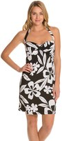 Tommy Bahama Hawaii Floral Twist Halter Spa Swim Dress 8125515