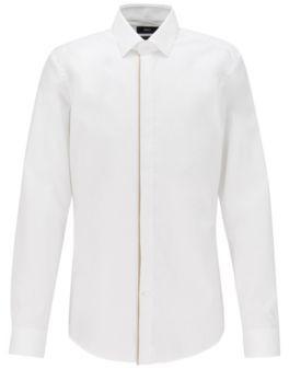 BOSS Slim-fit shirt in easy-iron Austrian cotton