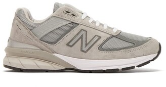New Balance 990v5 Suede And Mesh Trainers - Womens - Grey