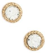 BP Women's Crystal Etched Stud Earrings