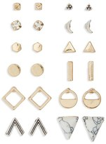 BP Junior Women's Geometric Stud Earrings (Set Of 12)