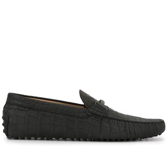Tod's T-bar crocodile driving loafers