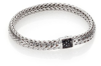 John Hardy Classic Chain Black Sapphire & Sterling Silver Medium Bracelet