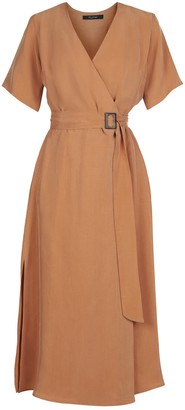 Flow Poetry Dress In Terracotta