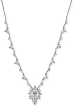 "Eliot Danori Silver-Tone Crystal 22"" Pendant Necklace, Created for Macy's"