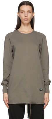 Rick Owens Taupe Level Long Sleeve T-Shirt