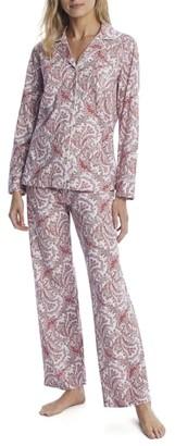 Lauren Ralph Lauren Red Print Knit Pajama Set