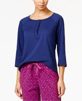 Karen Neuburger Ruffled Henley Pajama Top
