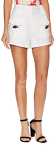 Derek Lam 10 Crosby Faux Horn Toggle Distressed Shorts