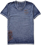 Buffalo David Bitton Tafate Short-Sleeve V-Neck Graphic Tee