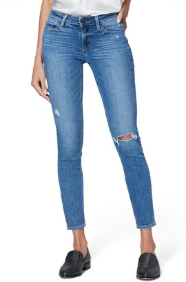 Paige Verdugo Ripped Ankle Ultra Skinny Jeans