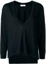Brunello Cucinelli loose fit V-neck jumper - women - Silk/Cashmere - S