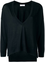 Brunello Cucinelli loose fit V-neck jumper - women - Silk/Cashmere - XS