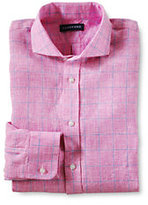 Classic Men's Long Sleeve Tailored Irish Linen Shirt-Lunar Navy
