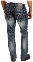 Rock Revival Chopper T11 Flap Pocket Straight Jean (Medium Indigo) - Apparel