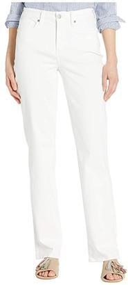 NYDJ Relaxed Straight Jeans in Optic White (Optic White) Women's Jeans