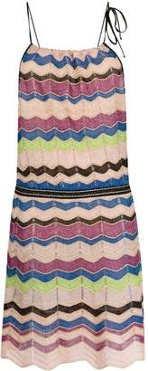 M Missoni Zigzag Print Knitted Dress