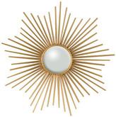 Global Views Mini Sunburst Mirror, Gold With Security Hardware