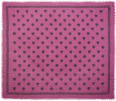 Versace Pink and Black Medusa Modal Scarf