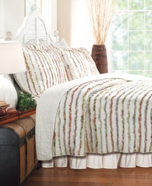 Greenland Home Fashions Bella Ruffle Quilt Set, 3-Piece Full - Queen