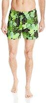 Sauvage Men's European Floral Laguna Swim Short