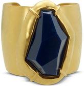 T Tahari Bracelet, 14k Gold Plated Soho Chic Blue Abstract Stone Cuff Bracelet
