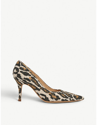 LK Bennett Harmony leopard-print woven courts