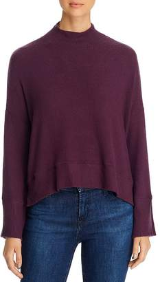 Red Haute Mock-Neck Cropped Sweater