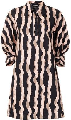 Paule Ka Wavy Stripe Shirt Dress