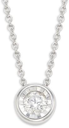 Saks Fifth Avenue 14K White Gold Diamond Round Pendant Necklace