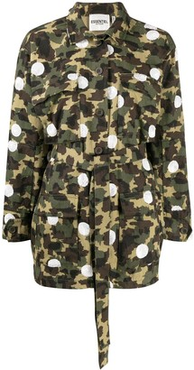 Essentiel Antwerp Vengaboys camouflage-polka dot jacket