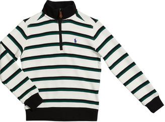 Ralph Lauren Kids Boy's Striped Rib-Knit Half-Zip Sweater, Size 5-7