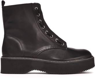 DKNY Rhi Lace-up Leather Ankle Boots
