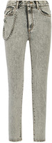 Marc Jacobs Embellished Appliquéd High-rise Skinny Jeans - Light gray