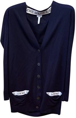 Loewe Navy Wool Knitwear for Women