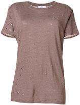 IRO distressed knitted T-shirt
