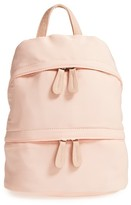Street Level Faux Leather Trim Backpack - Pink