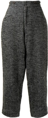 Yohji Yamamoto Pre-Owned Blistered Gaucho cropped trousers