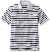 L.L. Bean Premium Double L Polo, Banded Short-Sleeve Stripe Without Pocket