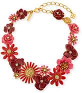 Oscar de la Renta Small Gilded Floral Collar Necklace