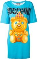 Moschino crowned bear T-shirt dress
