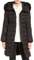 Soia & Kyo Genuine Fox Fur Trim Quilted Long Down Coat