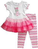 Sweet Heart Rose Sweetheart Rose Baby Girls Baby Girls Easter Bunny Dress and Leggings Set