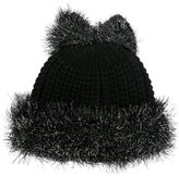 Federica Moretti Tinsel bow beanie - women - Polyamide/Viscose/Virgin Wool/Polyacrylic - One Size